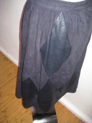 Hammer Falda de cuero azul oscuro Cuero