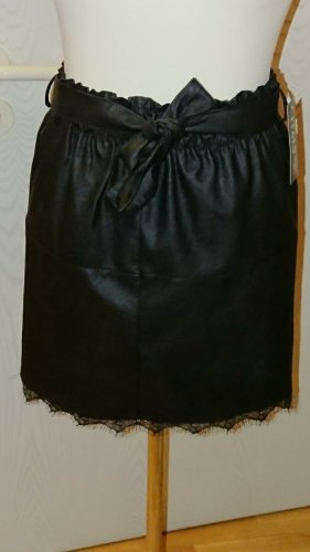 Faux Leather Skirt black