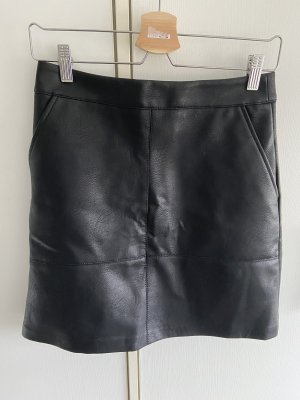 Only Faux Leather Skirt black polyester