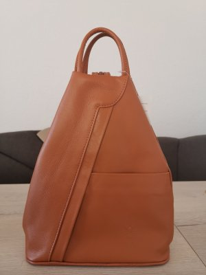 Vera Pelle Pouch Bag cognac-coloured