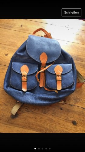 School Backpack blue-brown