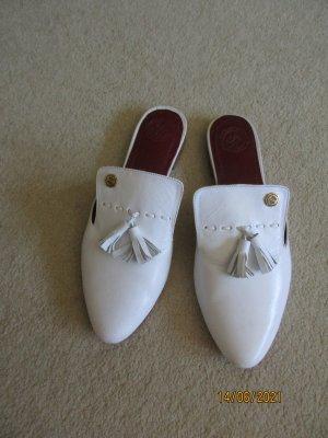 Sabots white leather