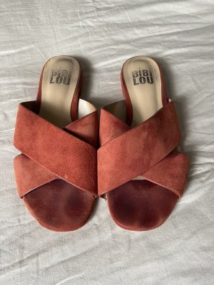 Bibi Lou Clog Sandals cognac-coloured-russet