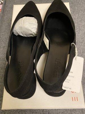 Esprit Slingback pumps zwart Leer