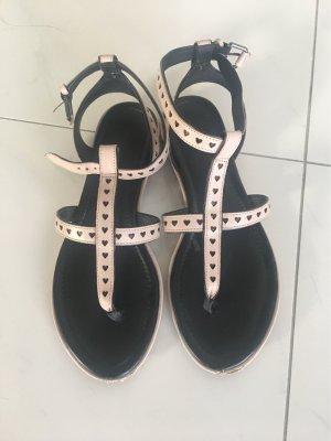 What for Sandalo con cinturino rosa pallido-nero