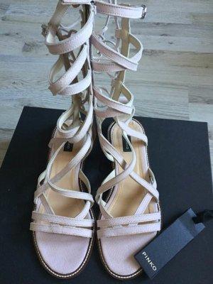 Pinko Romeinse sandalen lichtroze Leer
