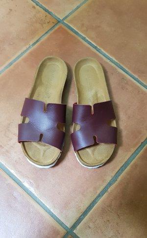 Lola Gonzalez Beach Sandals bordeaux-purple leather