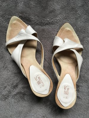Dianette Sandals oatmeal-natural white leather