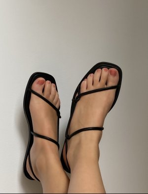 COS Strapped Sandals black leather