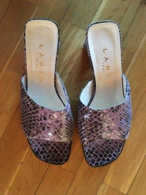 Lario Dianette sandalen paars-grijs-paars Leer