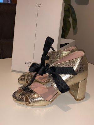 Leder Sandaletten L37-Handmade Shoes Gr.38 NEU