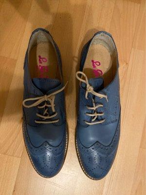 Le Griffe Zapatos brogue azul acero