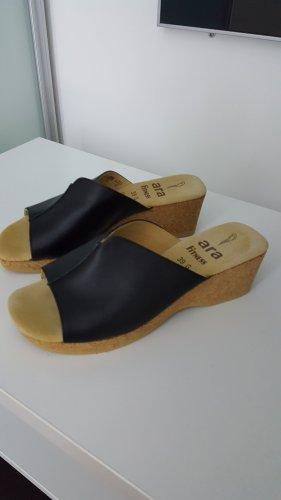 ara Sandalias de tacón con plataforma negro Cuero