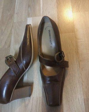 Leder Schuhe braun camel