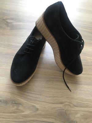 Leder Schuhe mit Plateau
