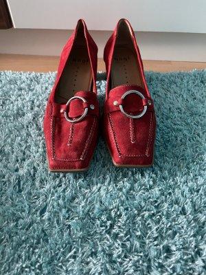 Högl Zapatos estilo Oxford rojo oscuro