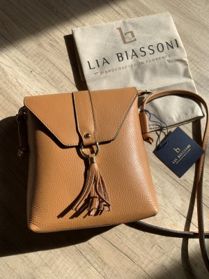 Leder- Schultertasche von Lia Biassoni