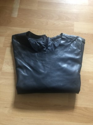 Milestone Leather Blouse dark blue