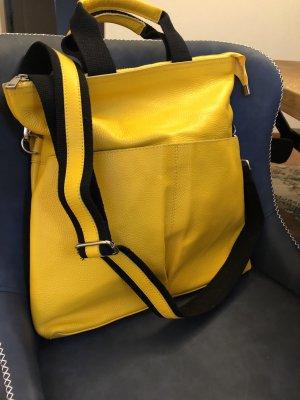 Borse in Pelle Italy Handbag yellow leather