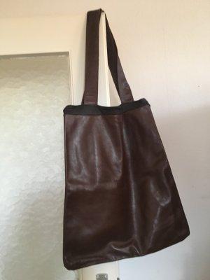 Borsa shopper marrone-marrone scuro