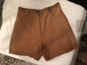 Leather Trousers brown-cognac-coloured