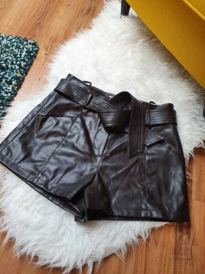 Morgan Pantalón corto de talle alto marrón oscuro-marrón-negro