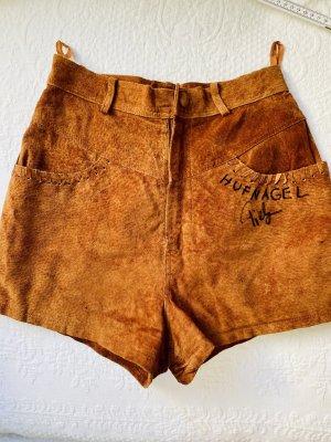 Leder Shorts braun Größe S Trachten Shot
