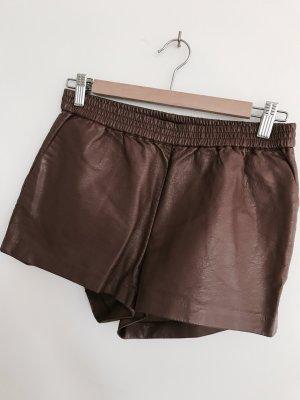Leder Shorts in braun von H&M