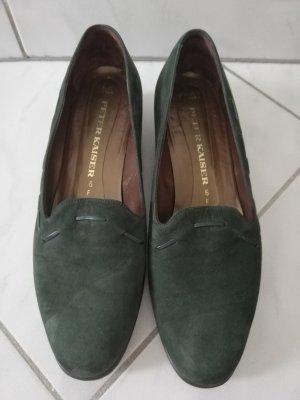 Peter Kaiser Pantofola nero-verde scuro