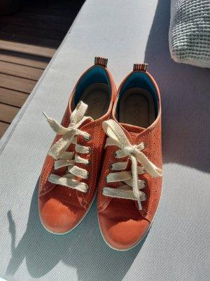 Ecco Lace-Up Sneaker orange-neon orange leather