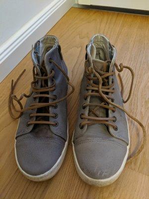 Leder-Sneaker von bama mit Lederschnürsenkel