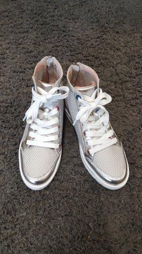 Marc Cain Sneaker con tacco argento-grigio chiaro