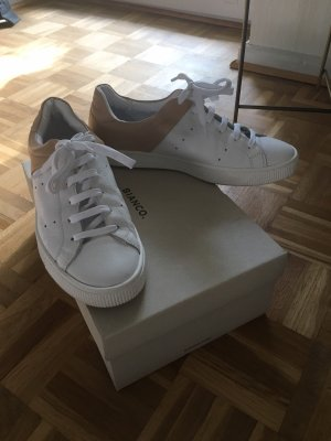 Bianco Lace-Up Sneaker white-beige leather