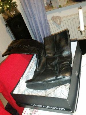Vagabond Halfhoge laarzen zwart Leer