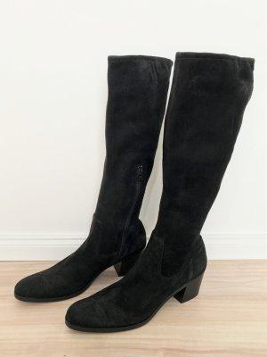 Prada Botas con tacón negro Cuero