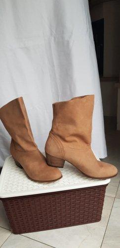 Cox Buty w stylu western brązowy-camel Skóra