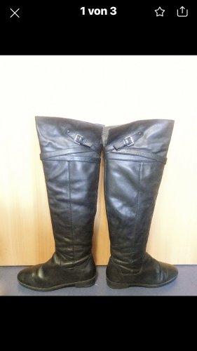 Belle Laarzen met bont zwart