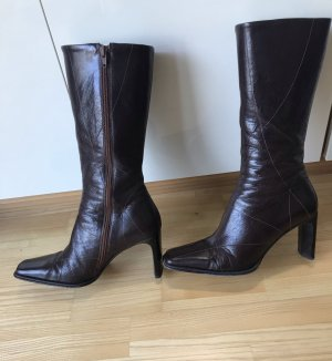 Geox High Heel Boots brown-dark brown leather