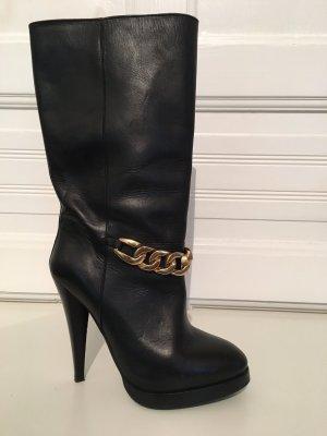 H&M Stivale con tacco alto nero-oro