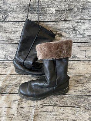 Buty zimowe czarny-brąz