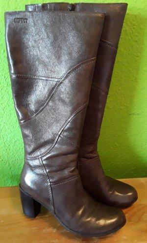 Leder Stiefel mit Reißverschluss