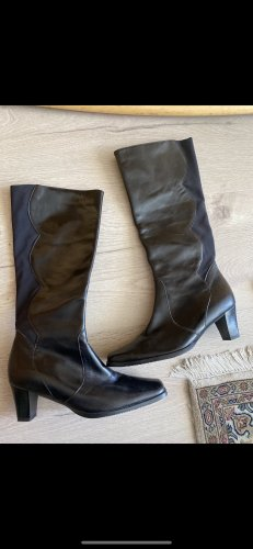 Berlin Stretch Boots black leather