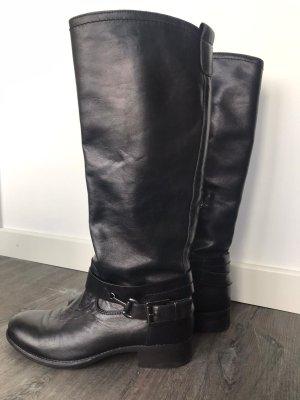Leder-Stiefel, Reitstiefel, NERO GIARDINI, schwarz Gr. 38