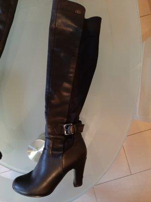 Leder Stiefel stretch