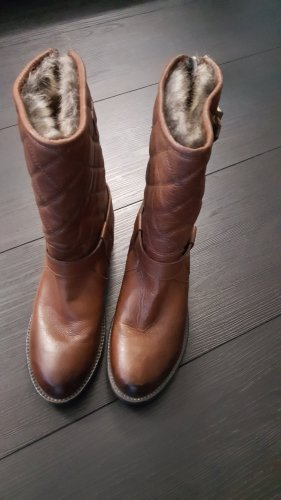 Barbour Winter Boots gold-colored-brown