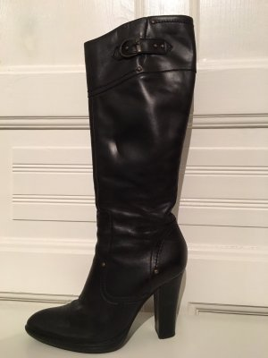 Bianco High Boots black-bronze-colored leather