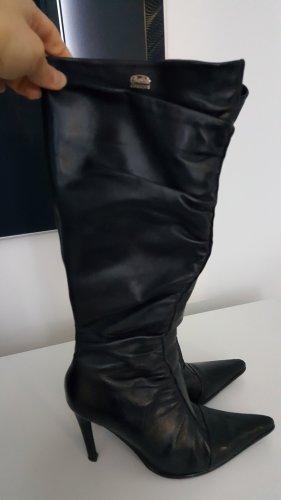 Buffalo Botas de tacón alto negro Cuero
