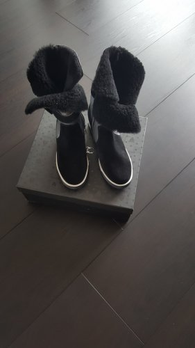 Marc Cain Winter Boots black-silver-colored