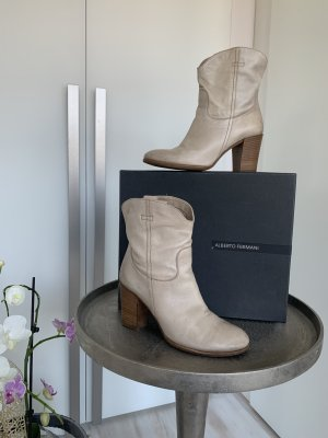Alberto Fermani Bottines à enfiler beige clair cuir