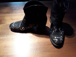 Vero Cuoio Botines estilo vaquero negro Cuero